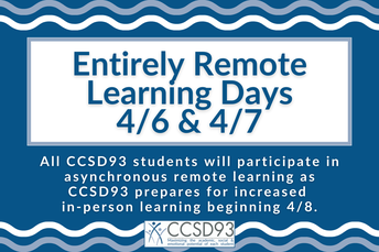 Reminder: Remote Learning Days on April 6-7
