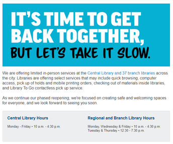 LA Libraries Are Opening!