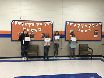 Cohort B Students of the Month