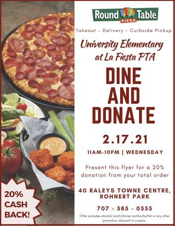 Dine & Donate - Feb. 17