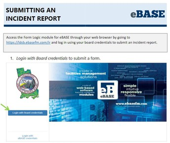 Submitting an Incident reporting