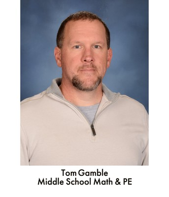 Mr. Gamble, Math and P.E.