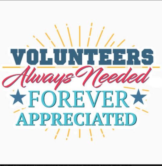 volunteers always needed forever appreciated