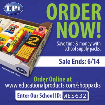 Last Day to Order School Supplies - 6/14