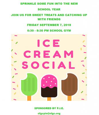 2018 Ice Cream Social sponsored by P.I.E.