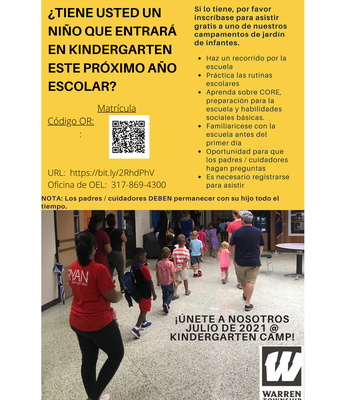 Kindergarten Camp is Back