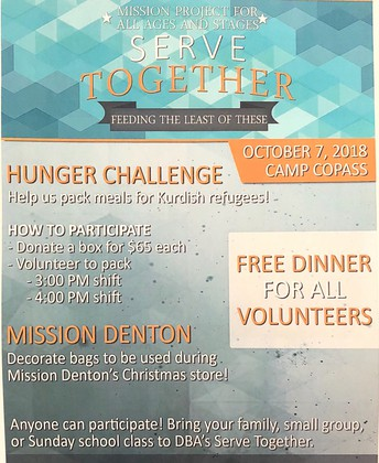 Serve Together: October 7