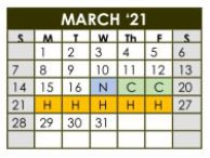 Important Dates in March