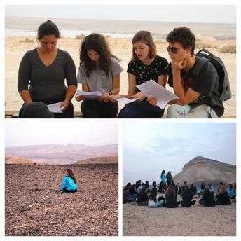 סיור מעורר השראה - כתות וקהילות במדבר, מגמת מחשבת ישראל, תיכון הכפר הירוק