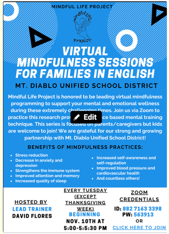 Free Virtual Mindfulness Sessions...