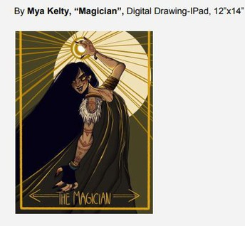"By Mya Kelty, ""Magician"", Digital Drawing-IPad, 12""x14"""
