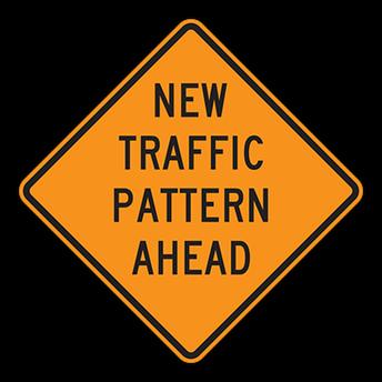 New morning drop off traffic pattern!