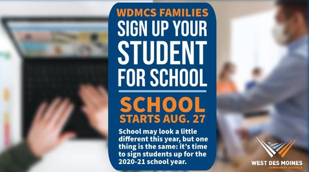 Enrollment promotion graphic
