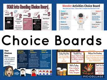 Students Use Choice Boards in Elementary Library