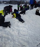 Snowhill fun during recess