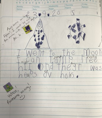 Dylan Bisset's awesome writing - age 5!