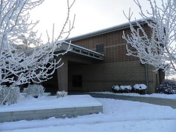 Frank church in the snow