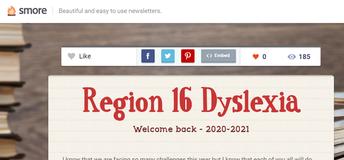Region 16 Dyslexia