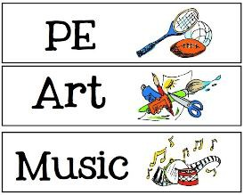 During Specials Classes:  Art, Library, P. E. and Music