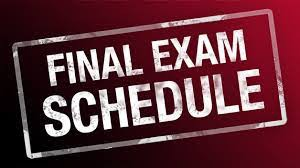 Final Exams are January 22, 23 & 24th!