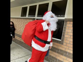 Santa visits Mrs. Mullin's Room!