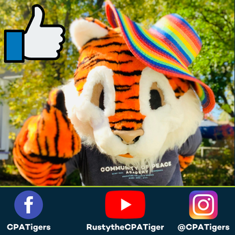 CPATigers on Facebook, RustytheCPATiger on YouTube, @CPATigers on Instagram