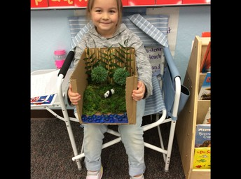 Maci with her Project