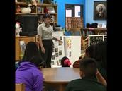 Park Ranger speaks to the students.