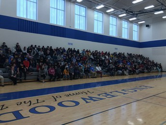 All our students at our kick-off assembly!