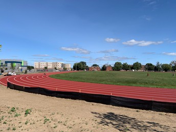 Rubberized track and field