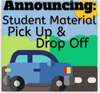 Material Pick Up/Drop Off Day    Tuesday, September 8