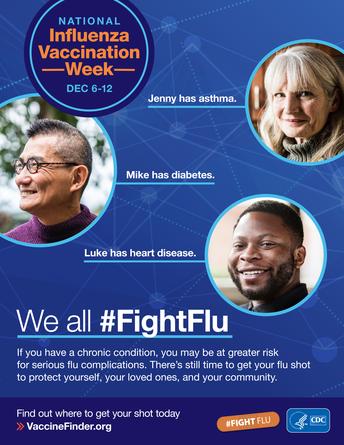National Influenza Vaccination Week is December 6-12