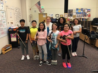 Violin Club ready to play
