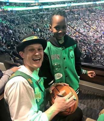 Stephen got to spend time with Lucky and get a signed basketball!