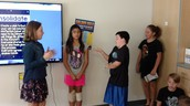 5th gr practicing conflict resolution with skits!