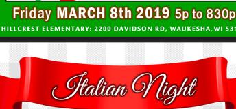 Save the Date - Italian Night