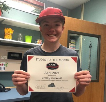 Congratulations Crosby Schmidt- C.A.R.E. SHS SOM!