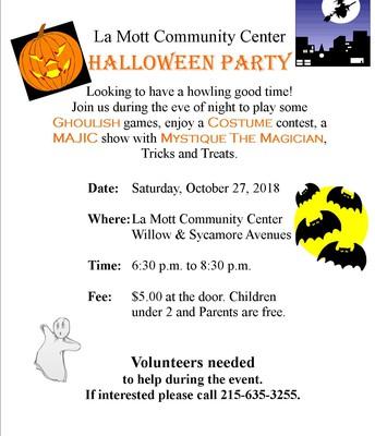 La Mott Community Center 'Halloween Party'