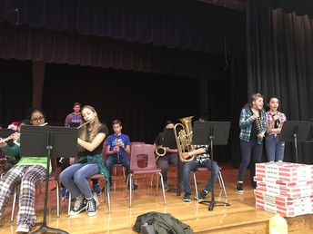 FMS Band Entertained at our Holiday Celebration