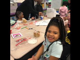 Ms. Dick's class made gingerbread houses!