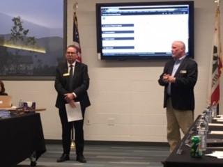 Michael McHatten, City Manger & Tim Vanoli, Superintendent