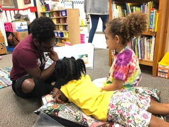 We love reading with Plano Wildcats!