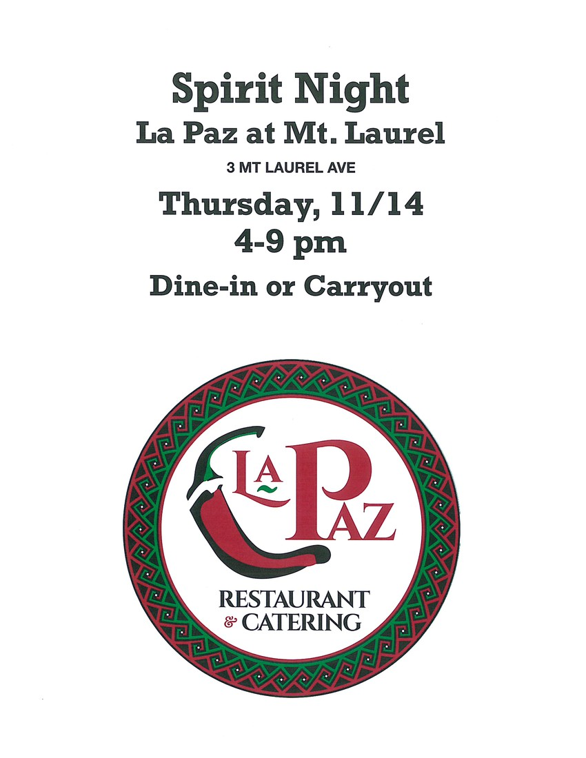 LaPaz spirit Night November 14th