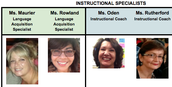 A Message from the Instructional Specialists