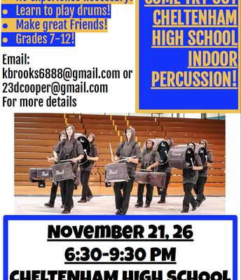 Indoor Percussion Tryouts