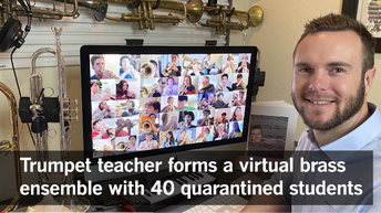 Westview's Tim Saeger Hosts Virtual Trumpet Ensemble