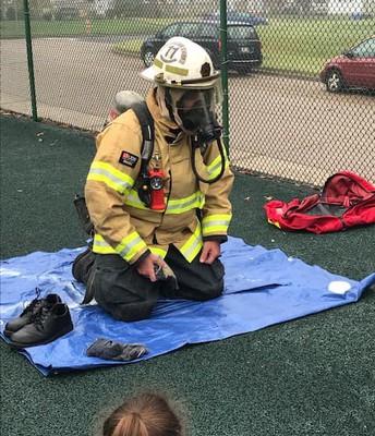 Fire Chief Jackson Visits St. Jerome School
