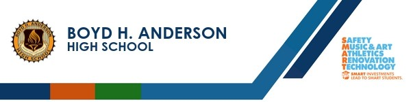 Boyd H. Anderson High School banner and SMART logo.