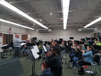Guest Clinician working with our MS bands