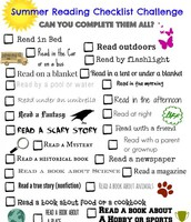 Click here to access the Summer Reading Checklist Challenge.